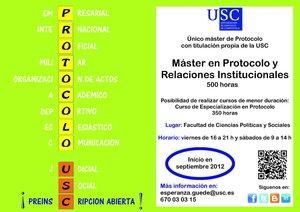 Máster en Protocolo y Relaciones Institucionales.