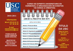 Curso de experto universitario en ceremonial e organización de eventos